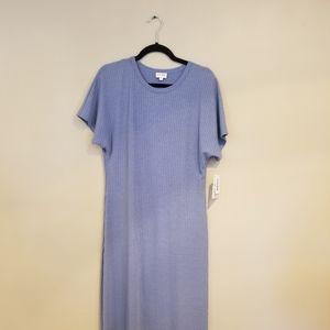 LuLaRoe Maria medium dress blue.